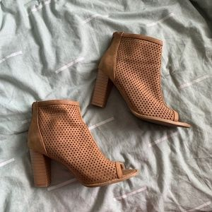Report suede perforated heeled booties sz. 9.5